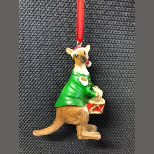 Kangaroo Hanging Decoration Green 8cm
