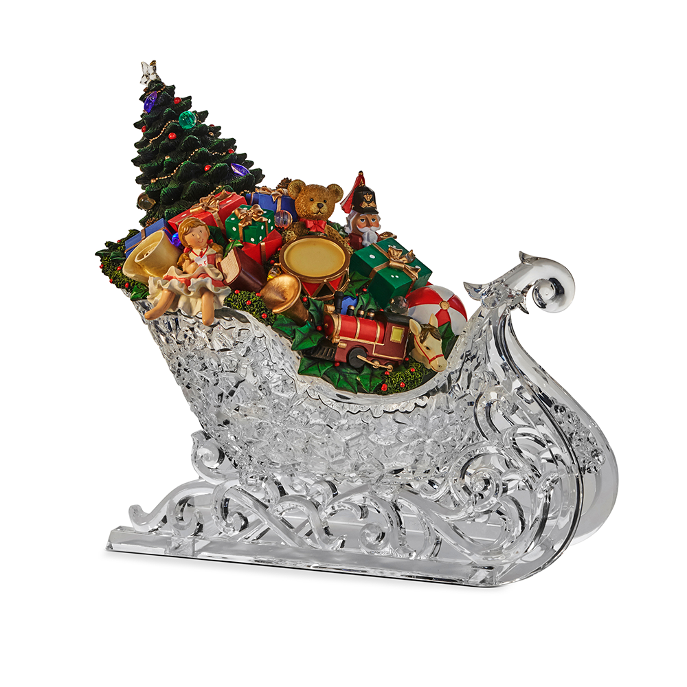 Arcylic Sleigh with Presents