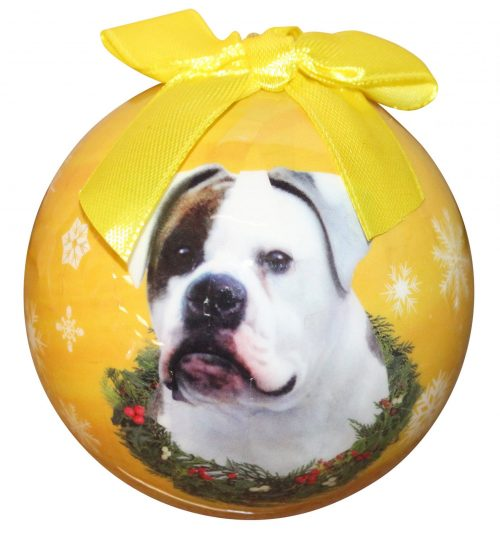 American Bulldog Hanging Bauble