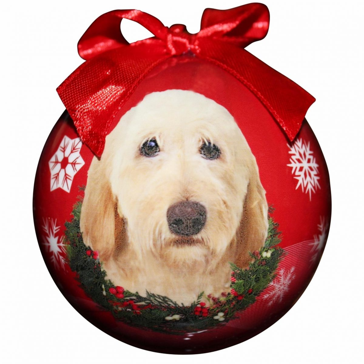 Yellow Labradoodle Hanging Bauble