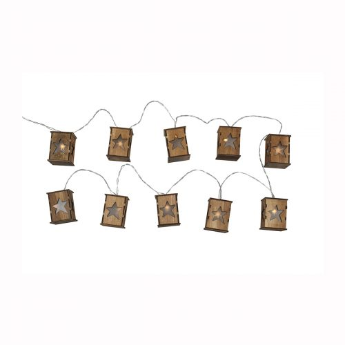 Birdhouse Advent Garland LED 295cm