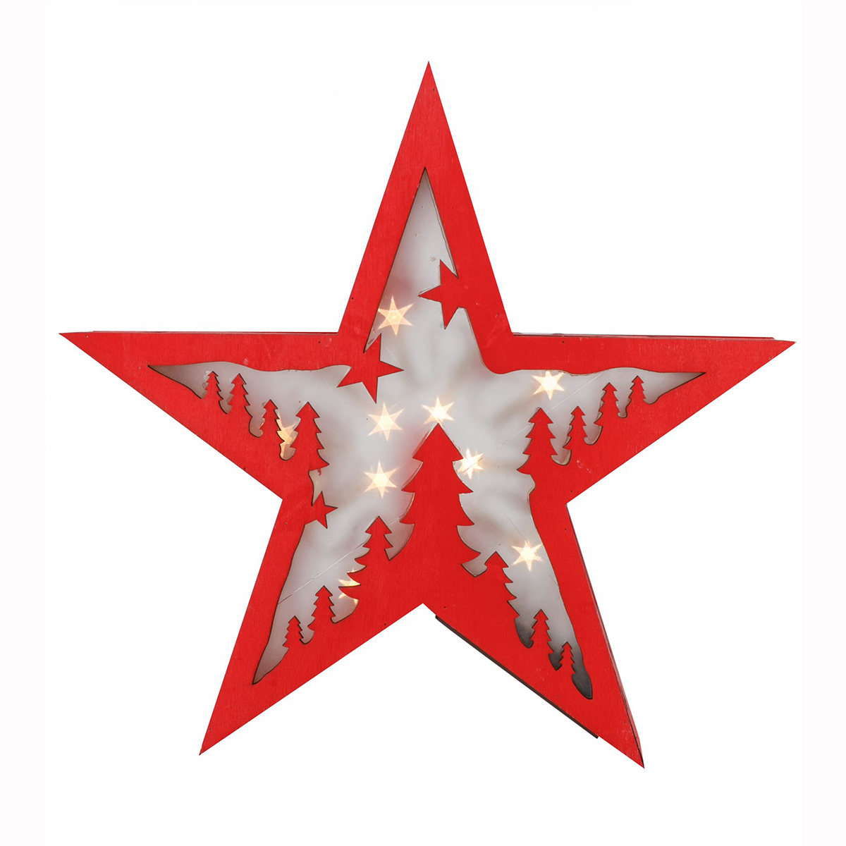Red Star with LED 17.5cm W