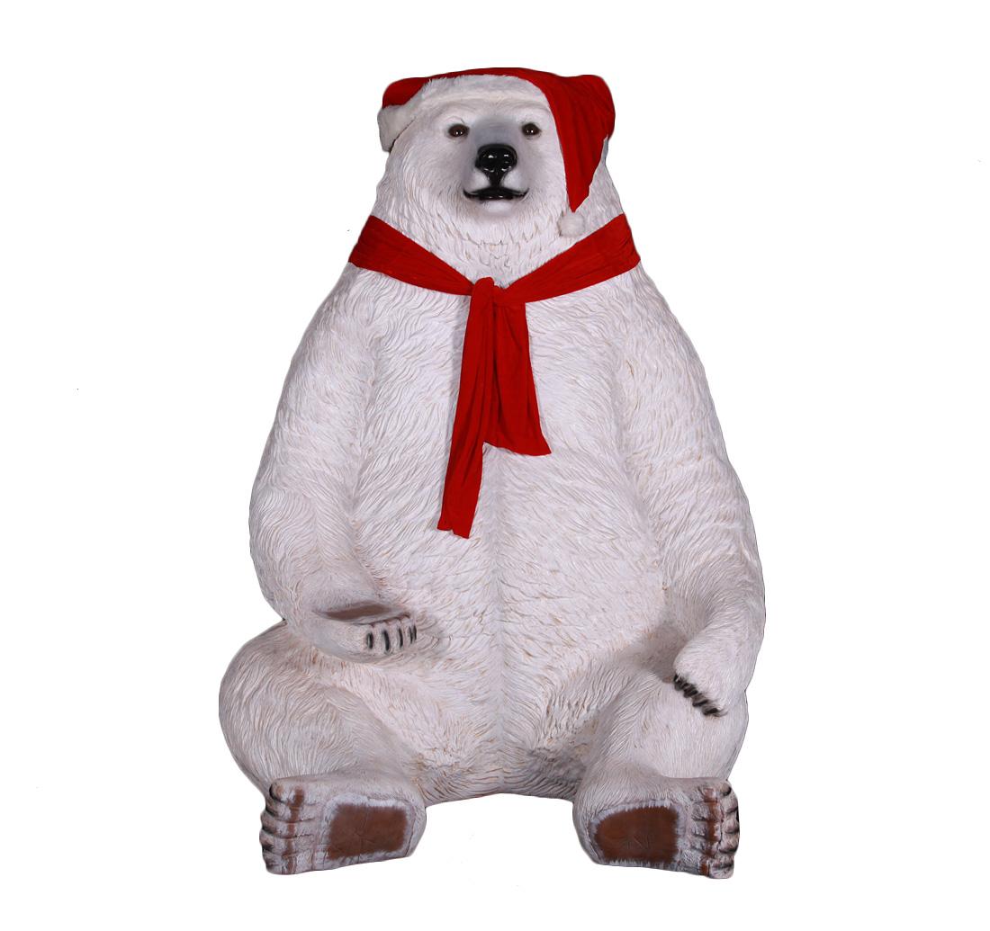 Sitting Polar Bear 226cm H
