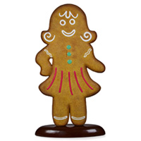 Gingerbread Woman 37 x 31 x 170cmH