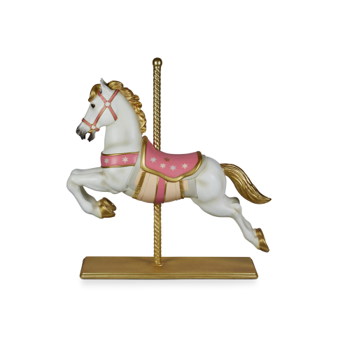 Pink Carousel Horse 145cmH