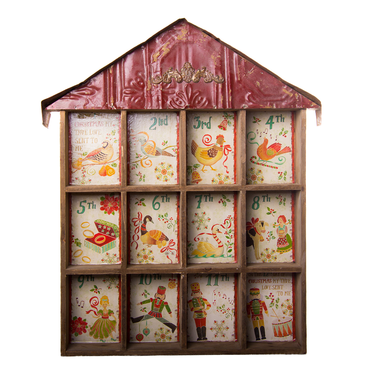 12 Days of Christmas Wooden Shadow Box