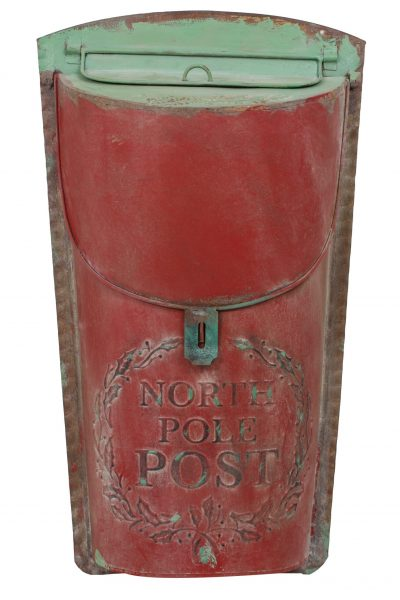 Vintage Tin Wall Post Box