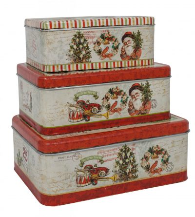 Vintage Tin Boxes Set/3