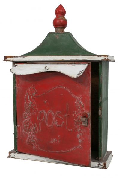 Vintage Tin Post Box