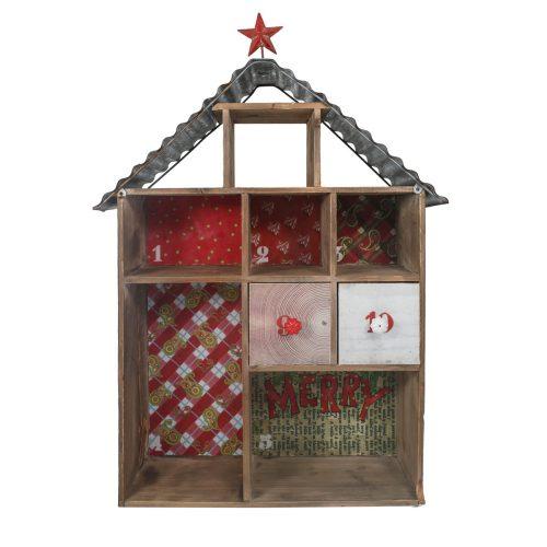 Rustic Wood/Tin Shelf House