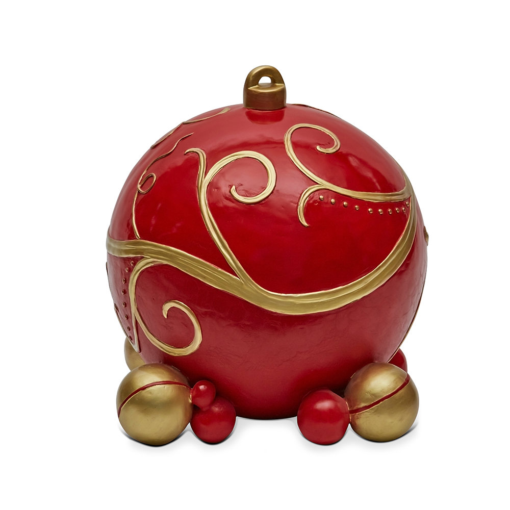 Red Bauble Single 53cm H