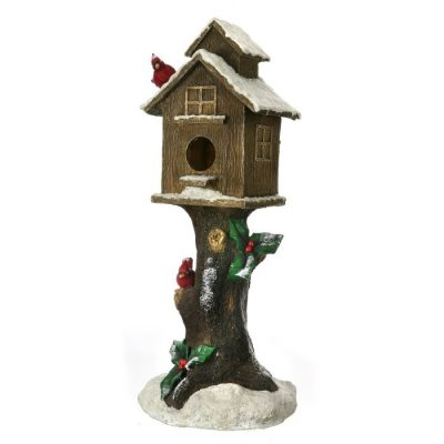 Birdhouse on Log 89cm