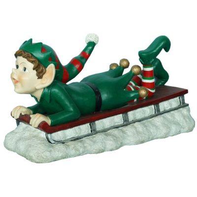 Elf on Sled 84cmL