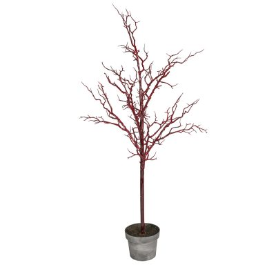 Red Potted Twig Tree 110cm
