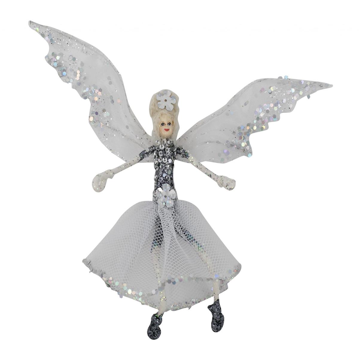 Ballerina Fairy Silver/White 20cm