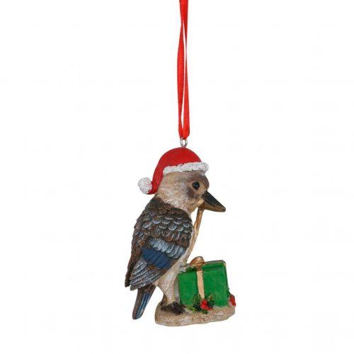 Kookaburra Hanging Decoration Green Box 8cm