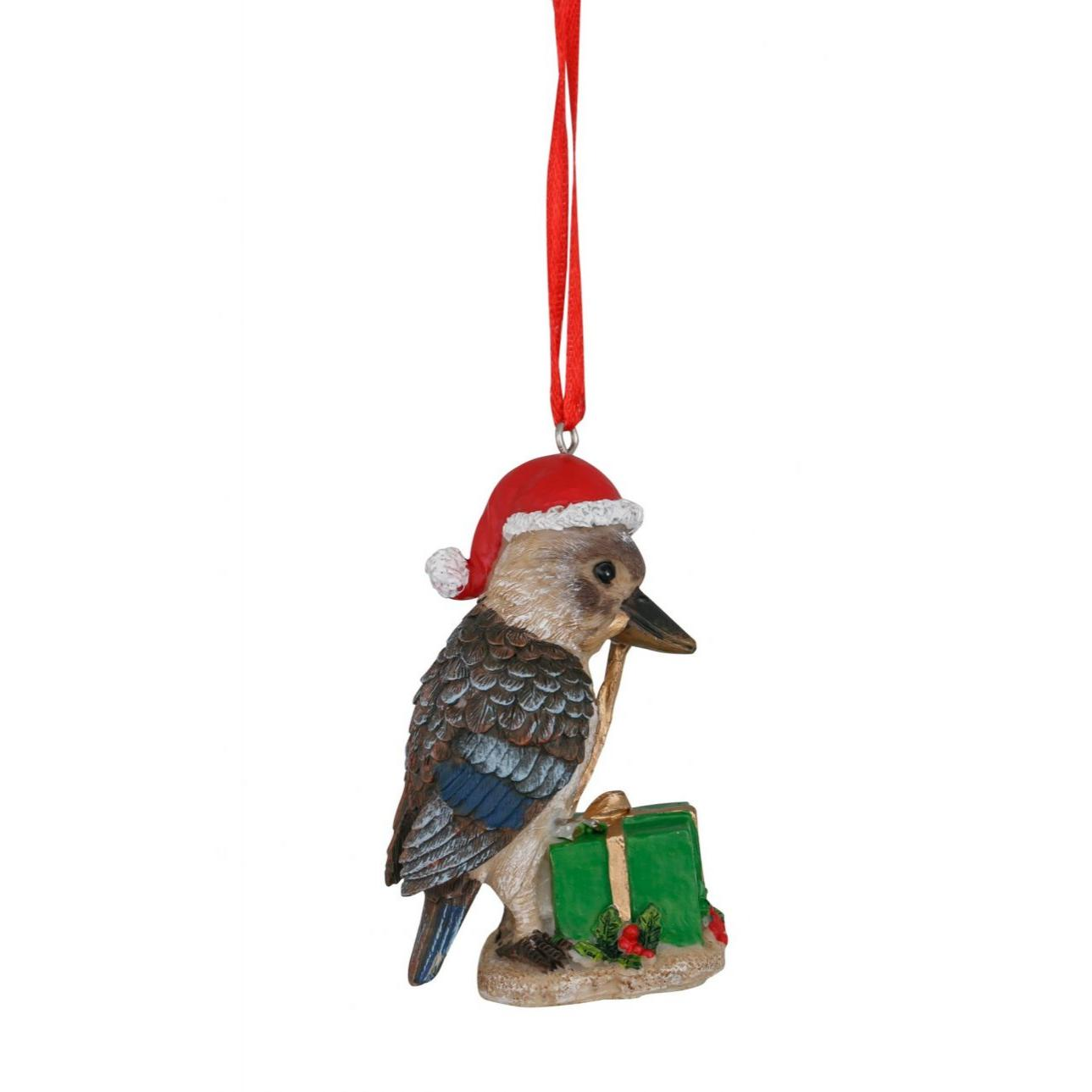 Kookaburra Hanging Decoration Green Box 8cm