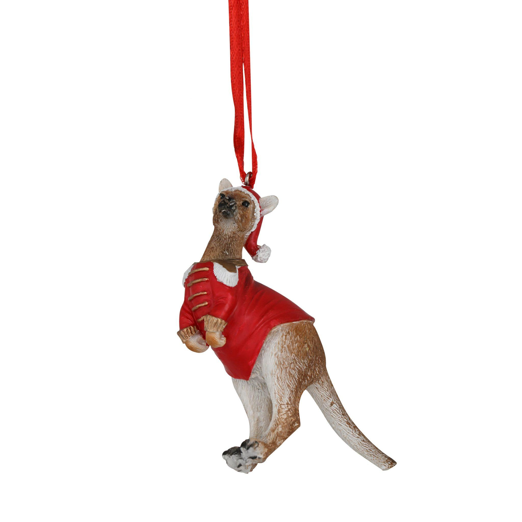 Kangaroo Hanging Decoration Red 8cm
