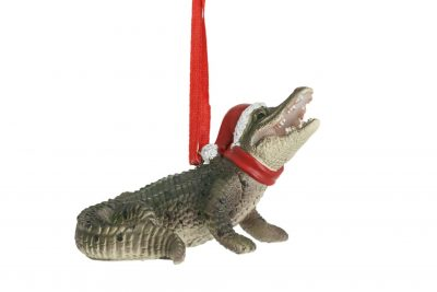 Laying Crocodile Hanging Decoration 8cm