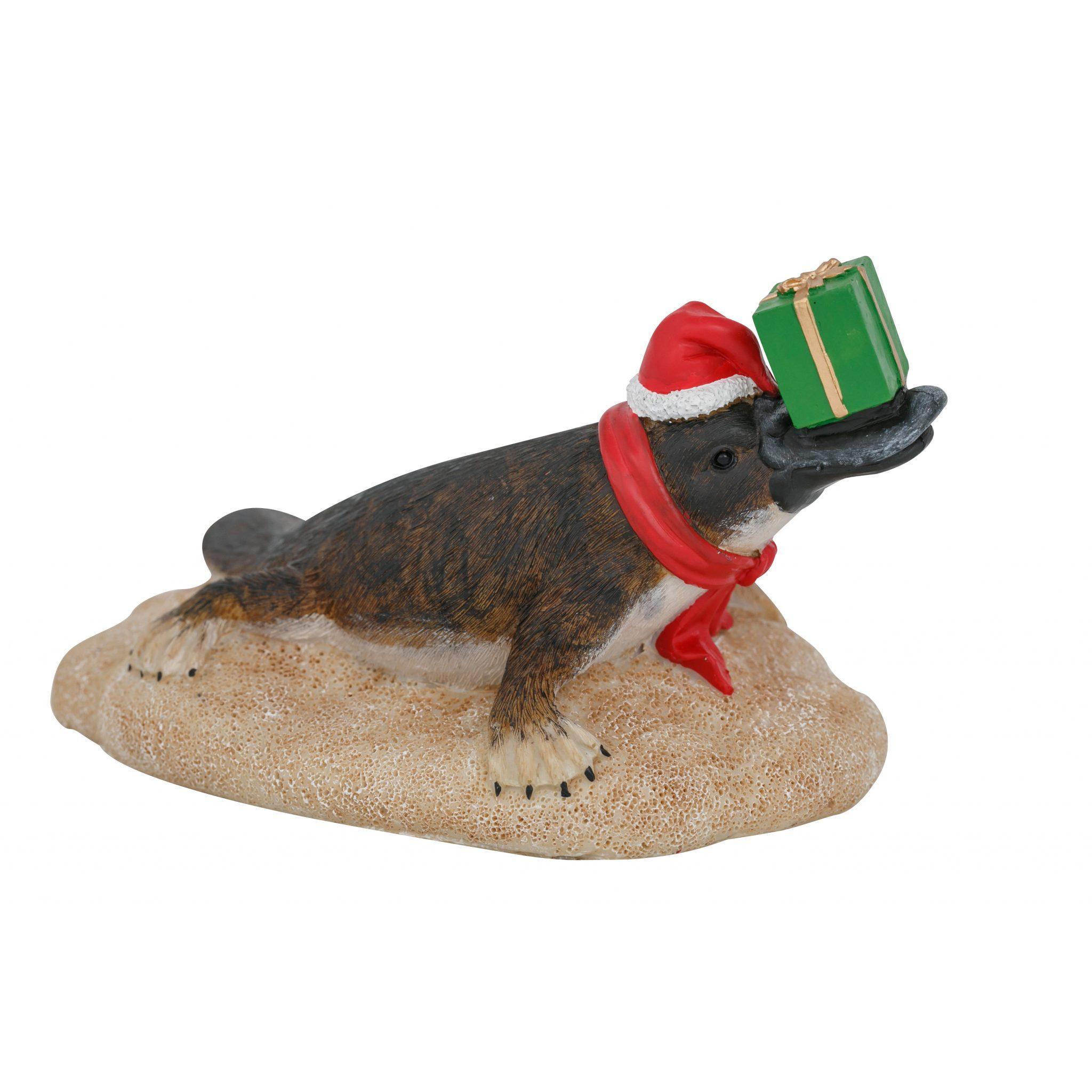 Platypus Christmas Figure Present 15cm