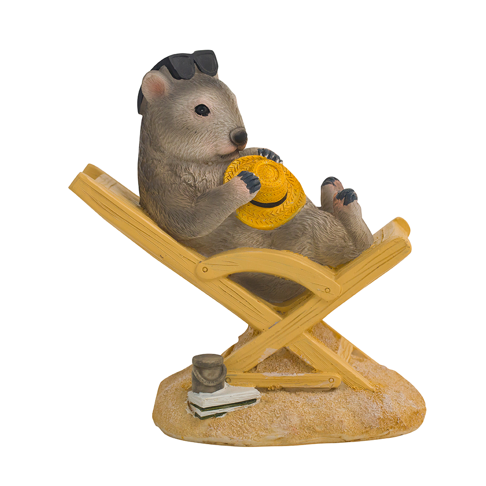 Wombat on Bench Chair Figure 14cm