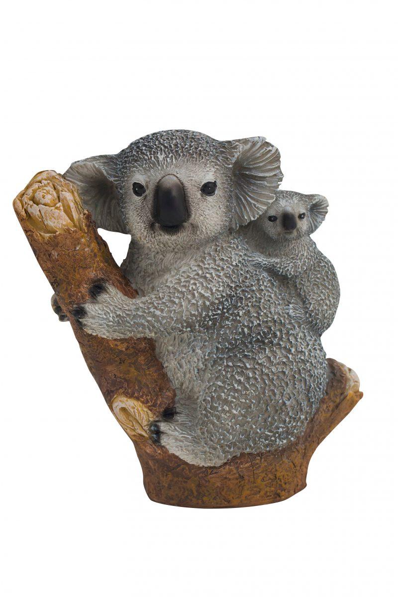 Mum & Baby Koala Figure 12cm H
