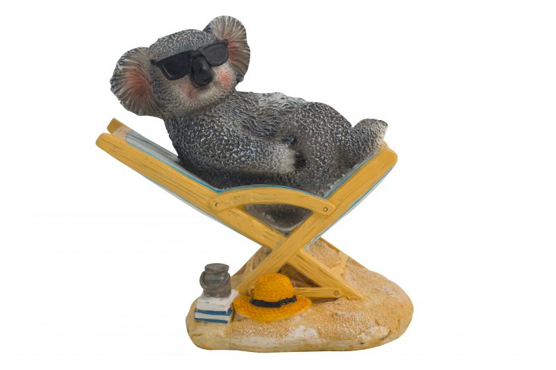 Koala on Bench Chair Figure 14cm