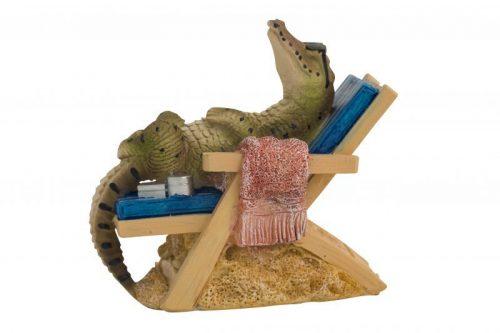 Crocodile on Bench Chair Figure 14cmH