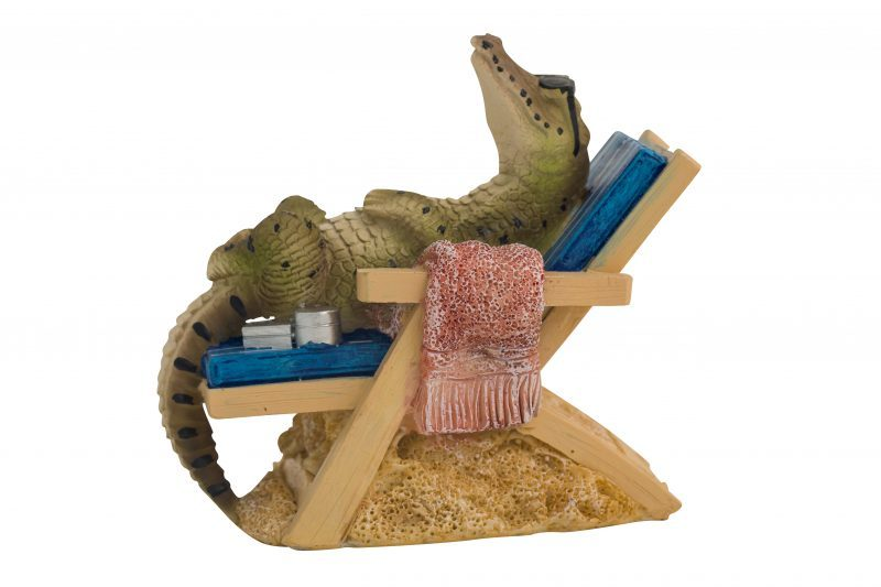 Crocodile on Bench Chair Figure 14cmH