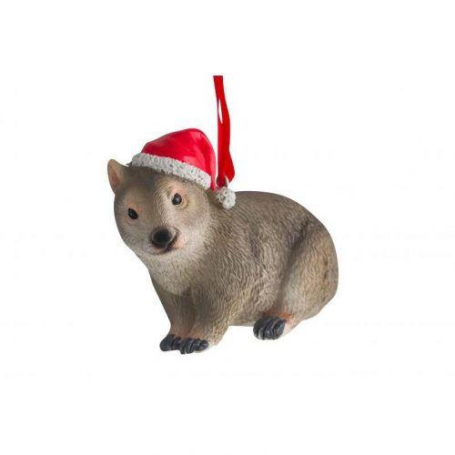 Christmas Wombat Hanging Decoration 7cm