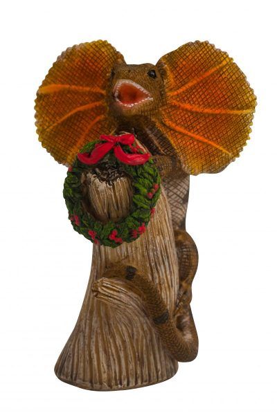 Christmas Frilled Lizard Figure 15cm