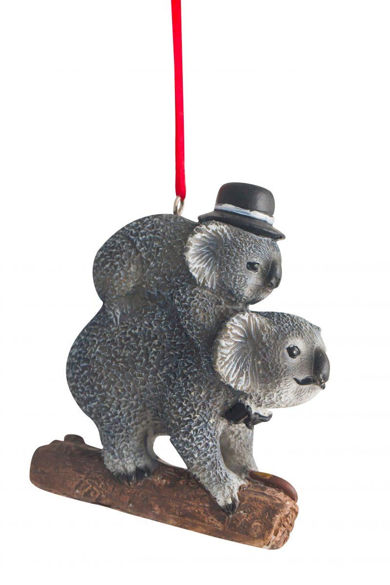 Dad & Son Gentleman Koala Hanging Decoraion 8cm