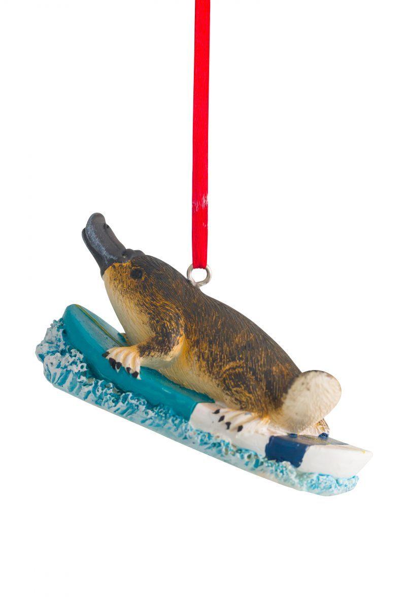 Surfing Platypus Hanging Dcoration 8cm