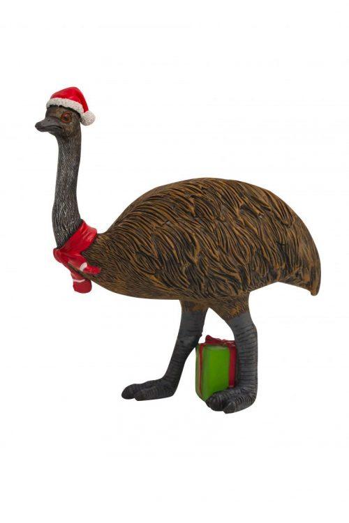 Christmas Emu Figure 15cm