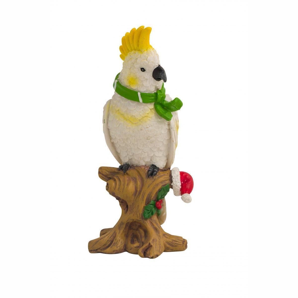 Christmas Cockatoo Figure 14cm