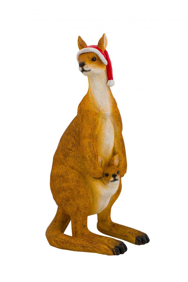 Christmas Kangaroo Figure 32cm