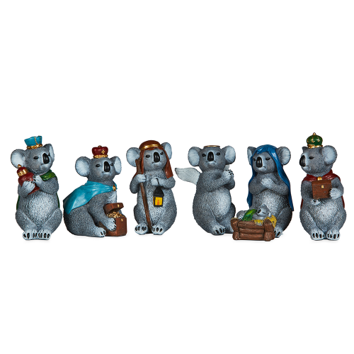 Koala Nativity Scene Figures 13cmH