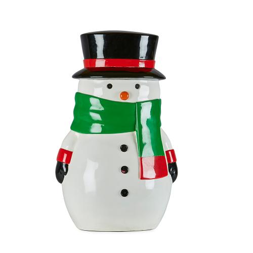 Snowman Green Scarf 63cmH