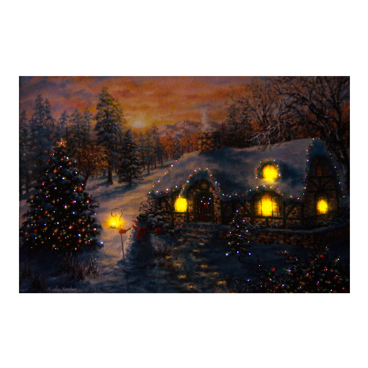 Fibreoptic Tapestry, Medium -Woodland Cottage