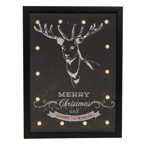 LED Marquee Reindeer Print