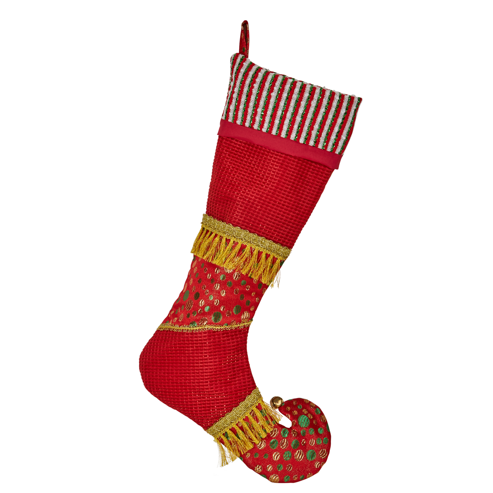 Red/Gold Stocking 51cmH