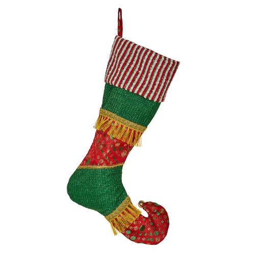 Green/Red Stocking 51cmH