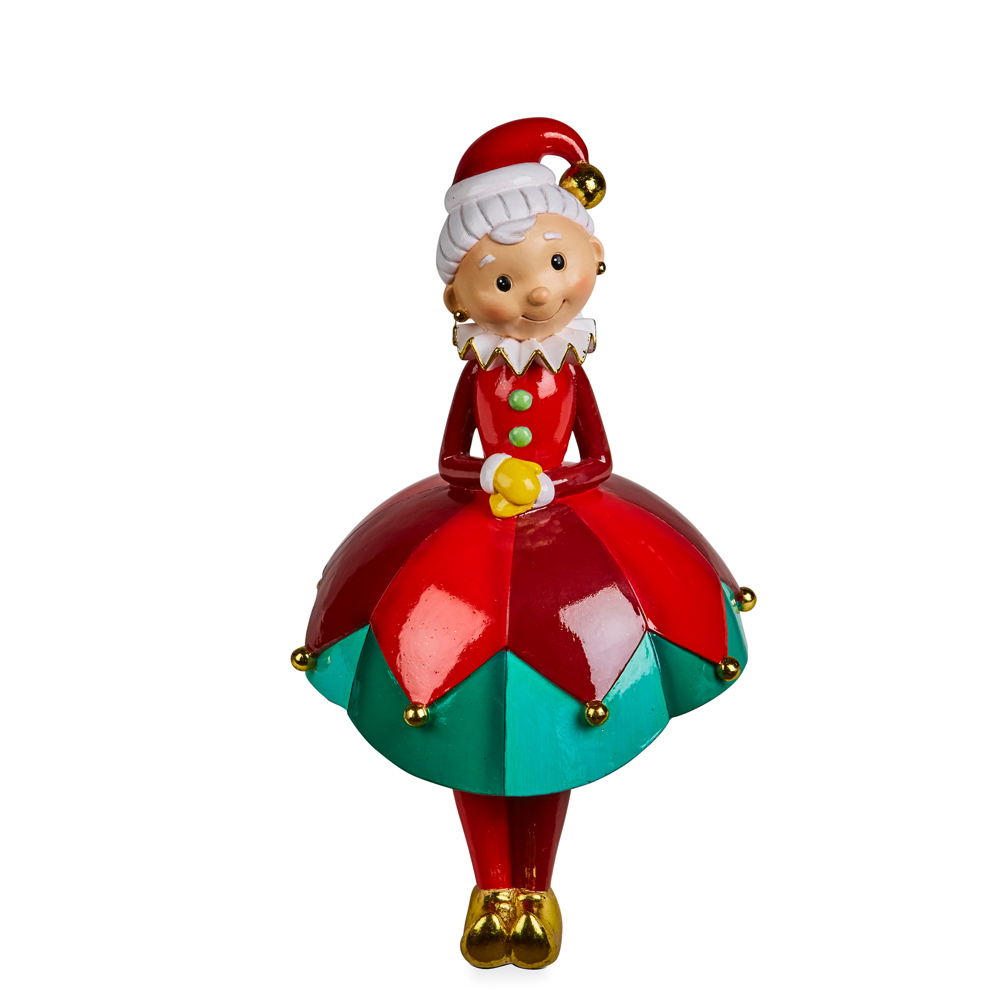 Mrs Claus Stocking Holder 32cmH