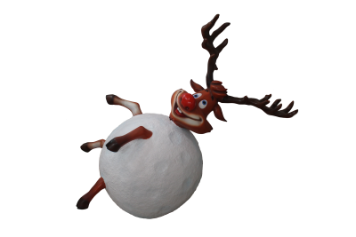 Reindeer in Snowball 160cmH