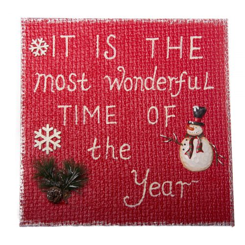 Wonderful Time Red Plaque 44cm