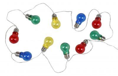 Coloured Light bulb Garland LED