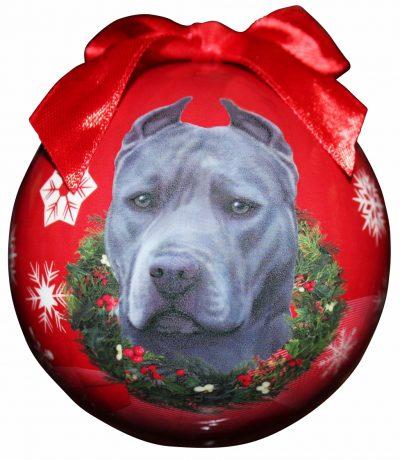 Hanging Bauble - Blue Pitbull