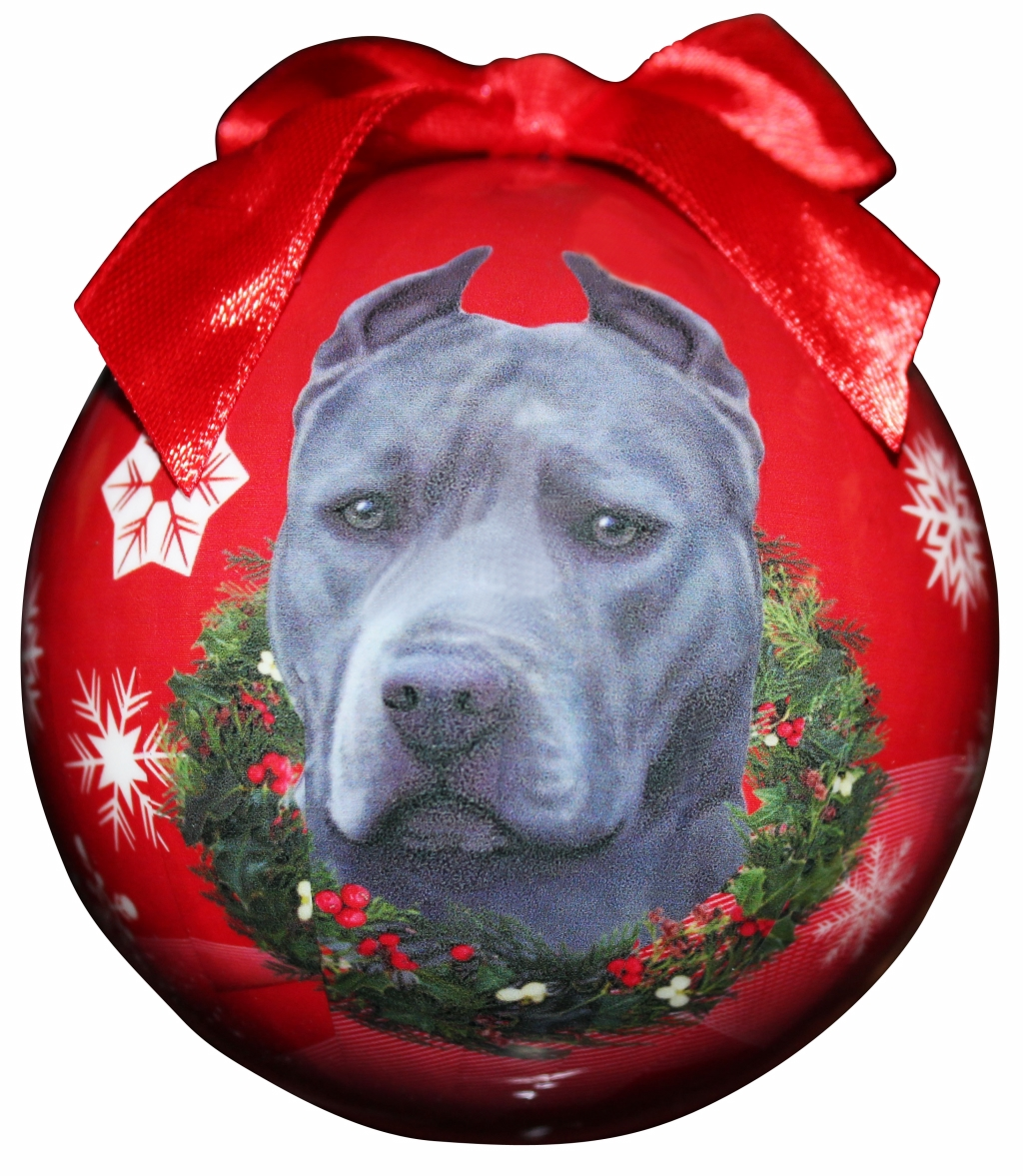 Hanging Bauble - Blue Pitbull