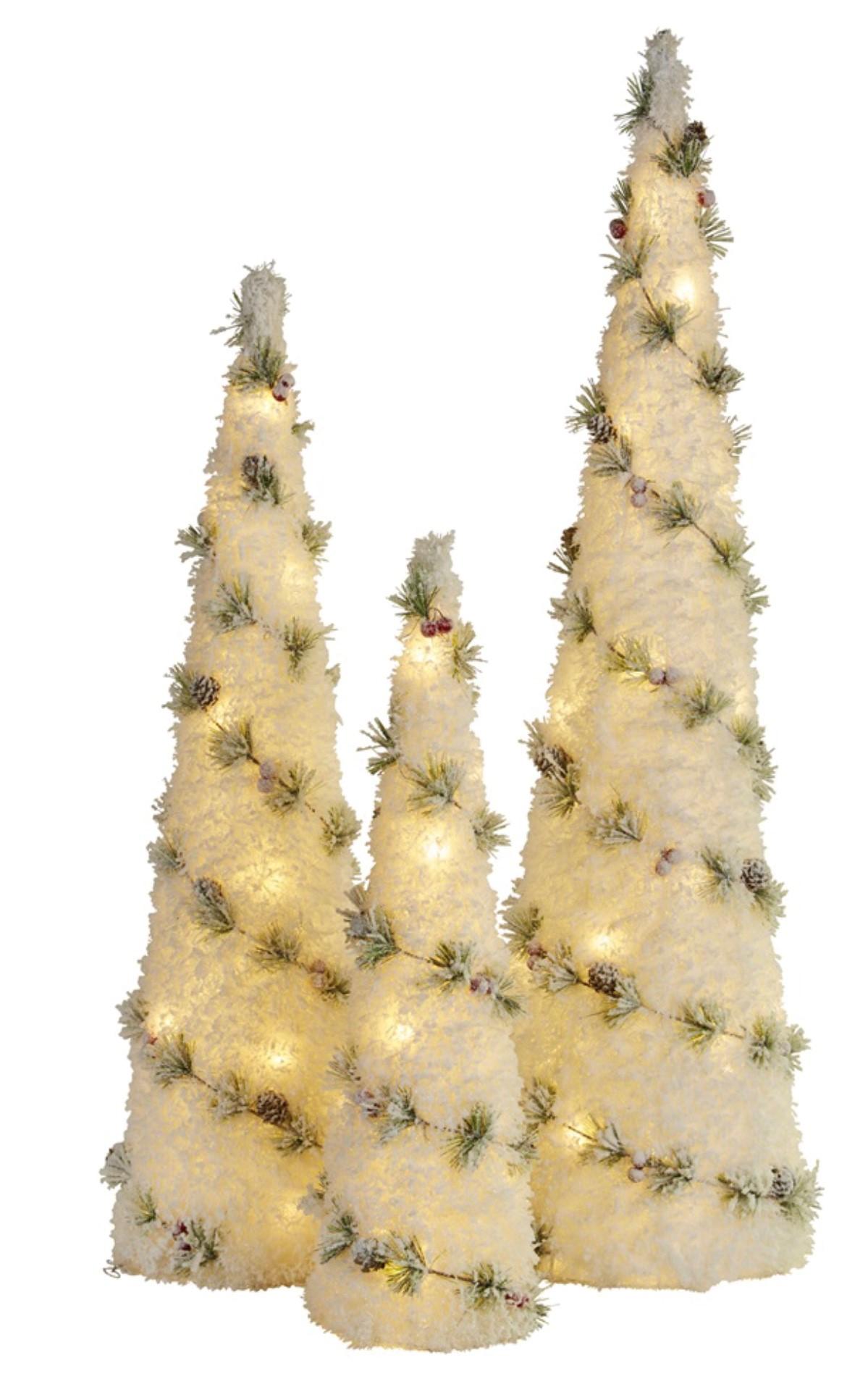 Snowy Tree Set/3, 100cm – Swish Collection Christmas ...